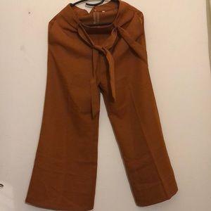 Burnt Orange Wide Leg Pants . Never Worn